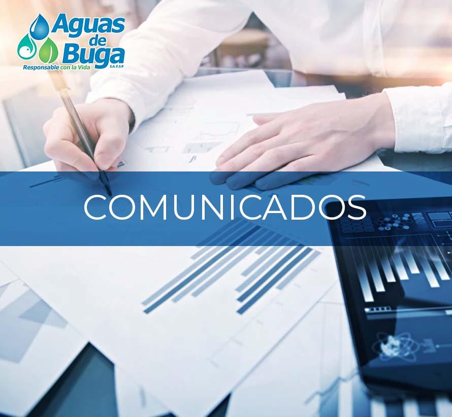 Comunicados - Aguas de Buga